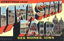 LLT100250 - Iowa State Fair, Des Moines, Iowa, Usa Large Letter Town, Towns, Postcard Postcards