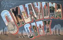 LLT100254 - Oklahoma, USA Large Letter Town, Towns, Postcard Postcards