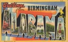 LLT100259 - Birmingham, alabama, Usa Large Letter Town, Towns, Postcard Postcards
