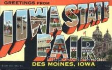 LLT100262 - Iowa State Fair, Des Moines, Iowa, Usa Large Letter Town, Towns, Postcard Postcards