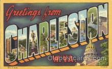 LLT100265 - Charleston, W.Va., Usa Large Letter Town, Towns, Postcard Postcards