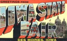 LLT100273 - Iowa State Fair, Des Moines, Iowa, Usa Large Letter Town, Towns, Postcard Postcards