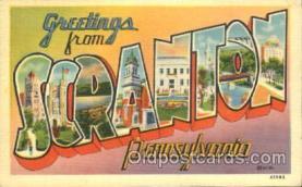 LLT100276 - Scranton, Pennsylvania, Usa Large Letter Town, Towns, Postcard Postcards