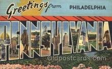 LLT100277 - Philadelphia, Pennsylvania,Usa Large Letter Town, Towns, Postcard Postcards