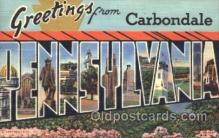 LLT100284 - Carbondale, Pennsylvania, Usa Large Letter Town, Towns, Postcard Postcards