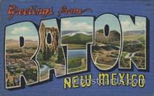 LLT100285 - Raton, New Mexico, Usa Large Letter Town, Towns, Postcard Postcards
