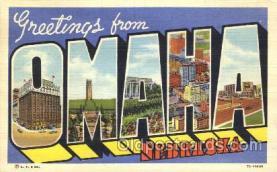 LLT100286 - Omaha, Nebraska, Usa Large Letter Town, Towns, Postcard Postcards