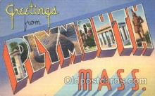 LLT100290 - Plymouth, Mass, Usa Large Letter Town, Towns, Postcard Postcards