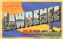 LLT100293 - Lawrence, Mass, Usa Large Letter Town, Towns, Postcard Postcards