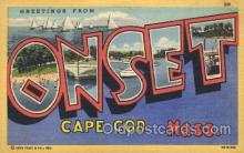 LLT100294 - Cape Cod, Mass, Usa Large Letter Town, Towns, Postcard Postcards