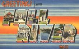 LLT100296 - Fall River, Mass, Usa Large Letter Town, Towns, Postcard Postcards