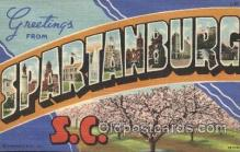LLT100300 - Spartanburg, S.C., Usa Large Letter Town, Towns, Postcard Postcards