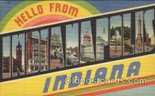 LLT100302 - Indianapolis, Indiana, Usa Large Letter Town, Towns, Postcard Postcards