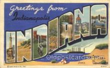 LLT100303 - Indianapolis, Indiana, Usa Large Letter Town, Towns, Postcard Postcards