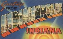 LLT100304 - Indianapolis, Indiana, Usa Large Letter Town, Towns, Postcard Postcards