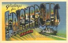 LLT100311 - Indianapolis, Indiana, Usa Large Letter Town, Towns, Postcard Postcards