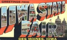 LLT100312 - Iowa State Fair, Des Moines, Iowa, Usa Large Letter Town, Towns, Postcard Postcards