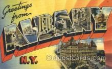 LLT100317 - Albany, New York, Usa Large Letter Town, Towns, Postcard Postcards