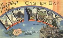 LLT100318 - Oyster bay, New York, Usa Large Letter Town, Towns, Postcard Postcards