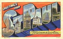 LLT100323 - St. Paul, Minnesota, Usa Large Letter Town, Towns, Postcard Postcards