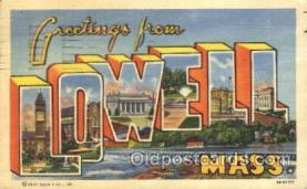 LLT100327 - Lowell, Mass, Usa Large Letter Town, Towns, Postcard Postcards