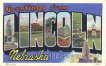 LLT100331 - Lincoln, Nebraska, Usa Large Letter Town, Towns, Postcard Postcards