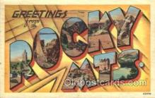 LLT100332 - Rocky Mts., Usa Large Letter Town, Towns, Postcard Postcards