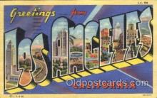 LLT100333 - Los Angeles, California, Usa Large Letter Town, Towns, Postcard Postcards