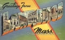 LLT100337 - Lawrence, Mass, Usa Large Letter Town, Towns, Postcard Postcards