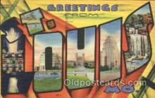 LLT100338 - St. Louis, Mo, Usa Large Letter Town, Towns, Postcard Postcards