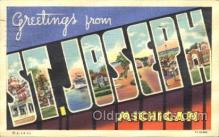 LLT100339 - St. Joseph, Michigan, Usa Large Letter Town, Towns, Postcard Postcards
