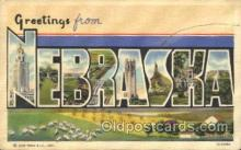 LLT100342 - Nebraska, Usa Large Letter Town, Towns, Postcard Postcards