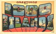 LLT100343 - Idoo Islands, Usa Large Letter Town, Towns, Postcard Postcards