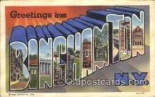 LLT100344 - Binghamton, New York, Usa Large Letter Town, Towns, Postcard Postcards