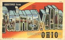 LLT100346 - Painesville, Ohio, Usa Large Letter Town, Towns, Postcard Postcards