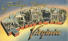 LLT100348 - Richmond, Virginia, Usa Large Letter Town, Towns, Postcard Postcards