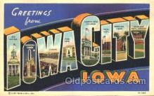 LLT100349 - Iowa City, Iowa, Usa Large Letter Town, Towns, Postcard Postcards