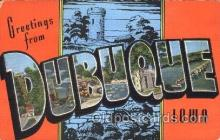 LLT100351 - Dubuque, Iowa, Usa Large Letter Town, Towns, Postcard Postcards