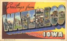 LLT100353 - Waterloo, iowa, Usa Large Letter Town, Towns, Postcard Postcards