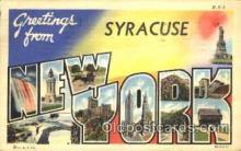 LLT100354 - Syracuse, New York, Usa Large Letter Town, Towns, Postcard Postcards