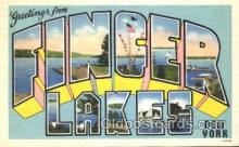 LLT100356 - Finger lakes, new York, Usa Large Letter Town, Towns, Postcard Postcards
