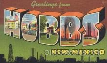 LLT100358 - Hobbs, New Mexico, Usa Large Letter Town, Towns, Postcard Postcards
