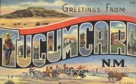 LLT100361 - Tucumcari, N.M., Usa Large Letter Town, Towns, Postcard Postcards