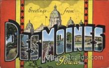 LLT100364 - Des Moines, Iowa, Usa Large Letter Town, Towns, Postcard Postcards