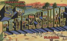 LLT100365 - St. Petersburg, Florida, USA Large Letter Towns Postcard Postcards