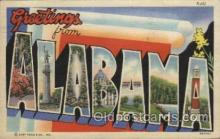 LLT100371 - Alabama, USA Large Letter Towns Postcard Postcards
