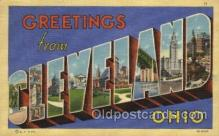 LLT100372 - Cleveland, OHIO, USA Large Letter Towns Postcard Postcards