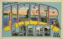 LLT100373 - Finger lakes, New York, USA Large Letter Towns Postcard Postcards