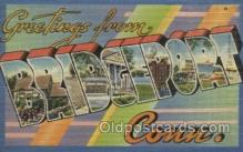LLT100374 - Bridgeport Conn, USA Large Letter Towns Postcard Postcards