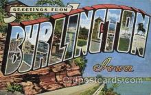 LLT100375 - Burlincton, Iowa, USA Large Letter Towns Postcard Postcards